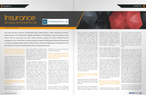 Finance Monthly Magazine - MFL Feature - December 2015